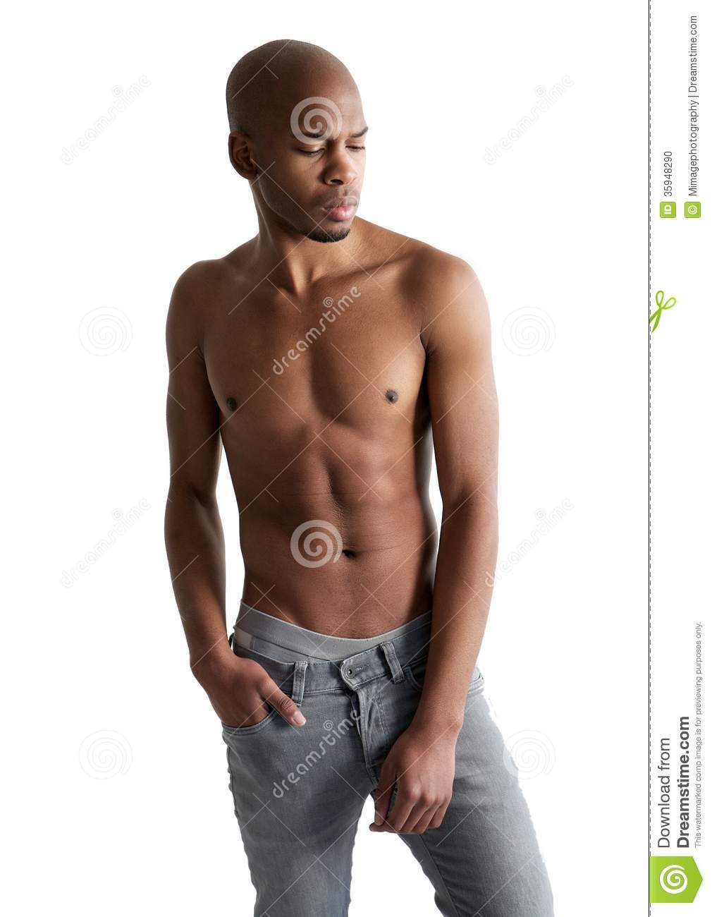 Handsome Young Man Posing With No Shirt Stock Photo Image Of Model