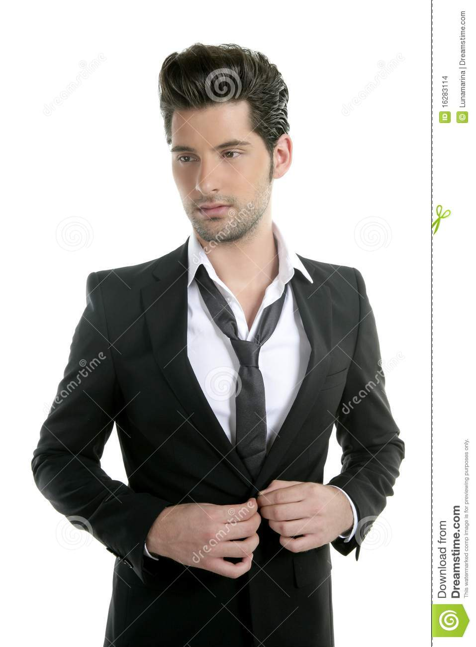 Handsome Young Man Suit Casual Tie Suit Stock Images - Image: 16283114