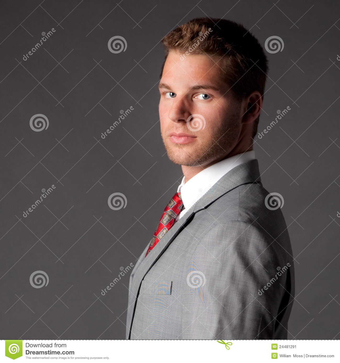 handsome young man in suit and tie stock image image of
