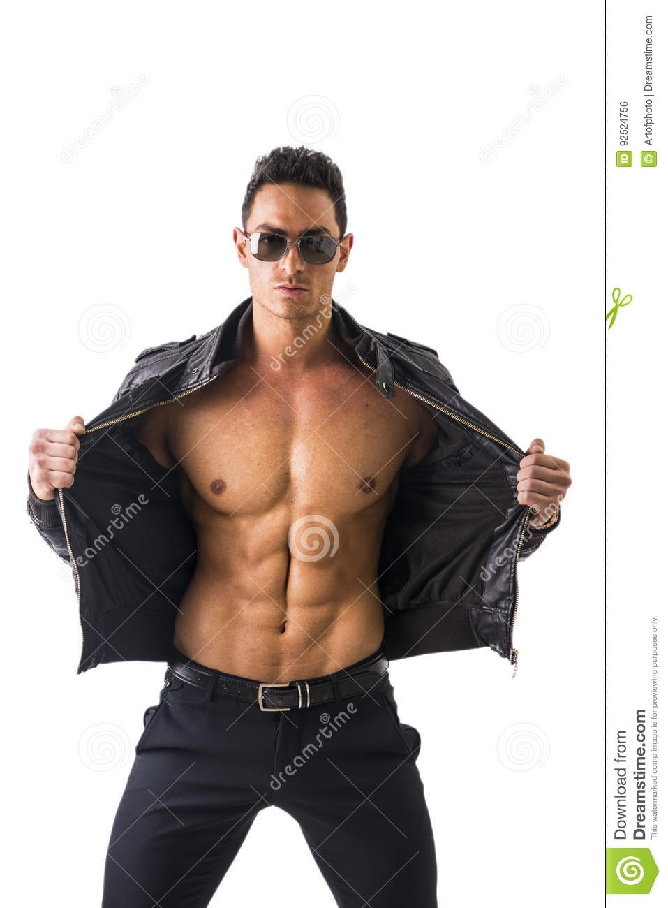 Handsome Young Man Naked Torso On Stock Photo (Royalty