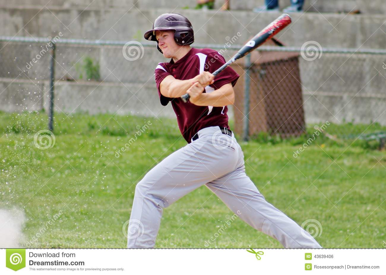 A Teen Playing Baseball