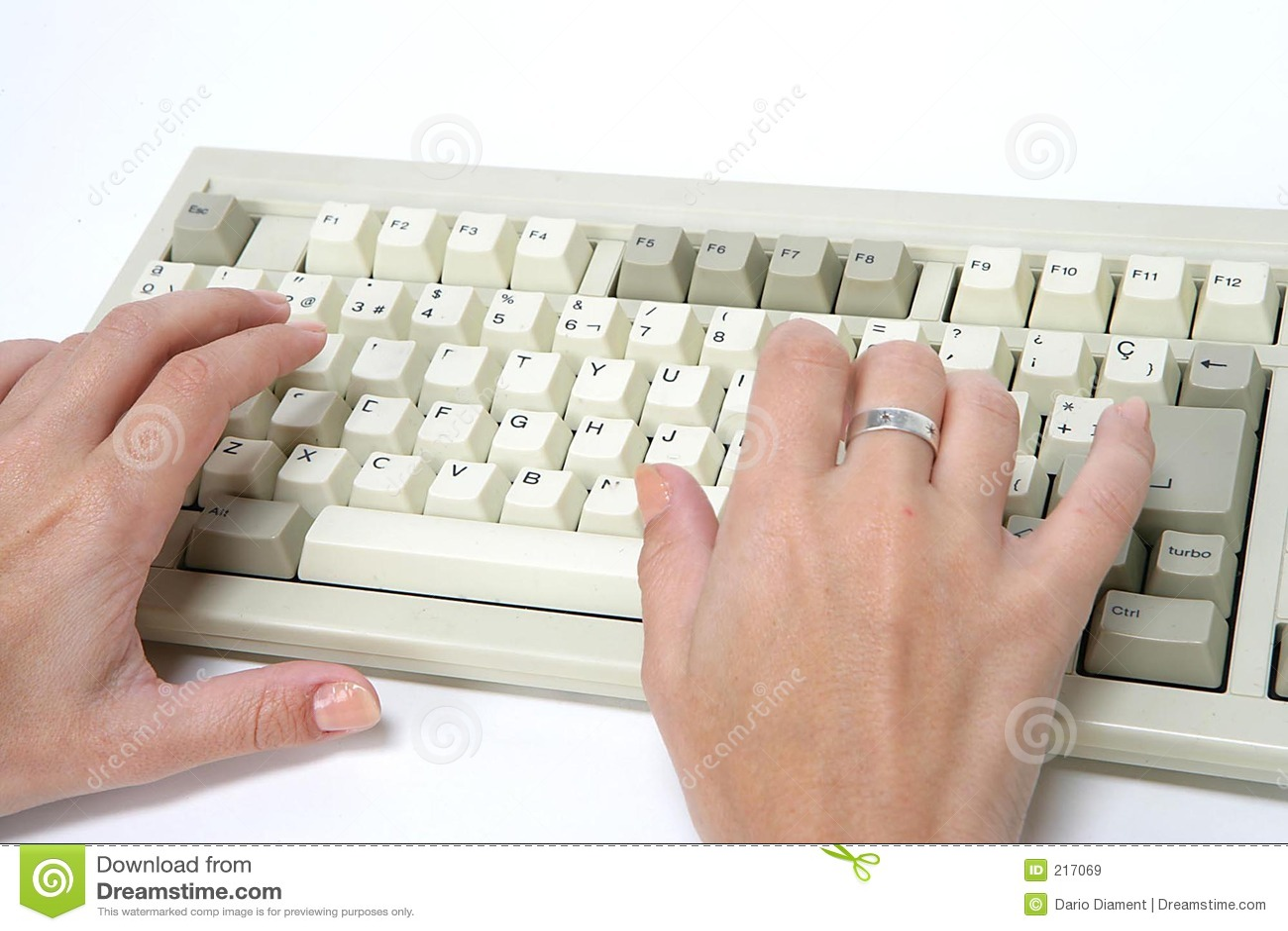 Handtangentbordkvinna