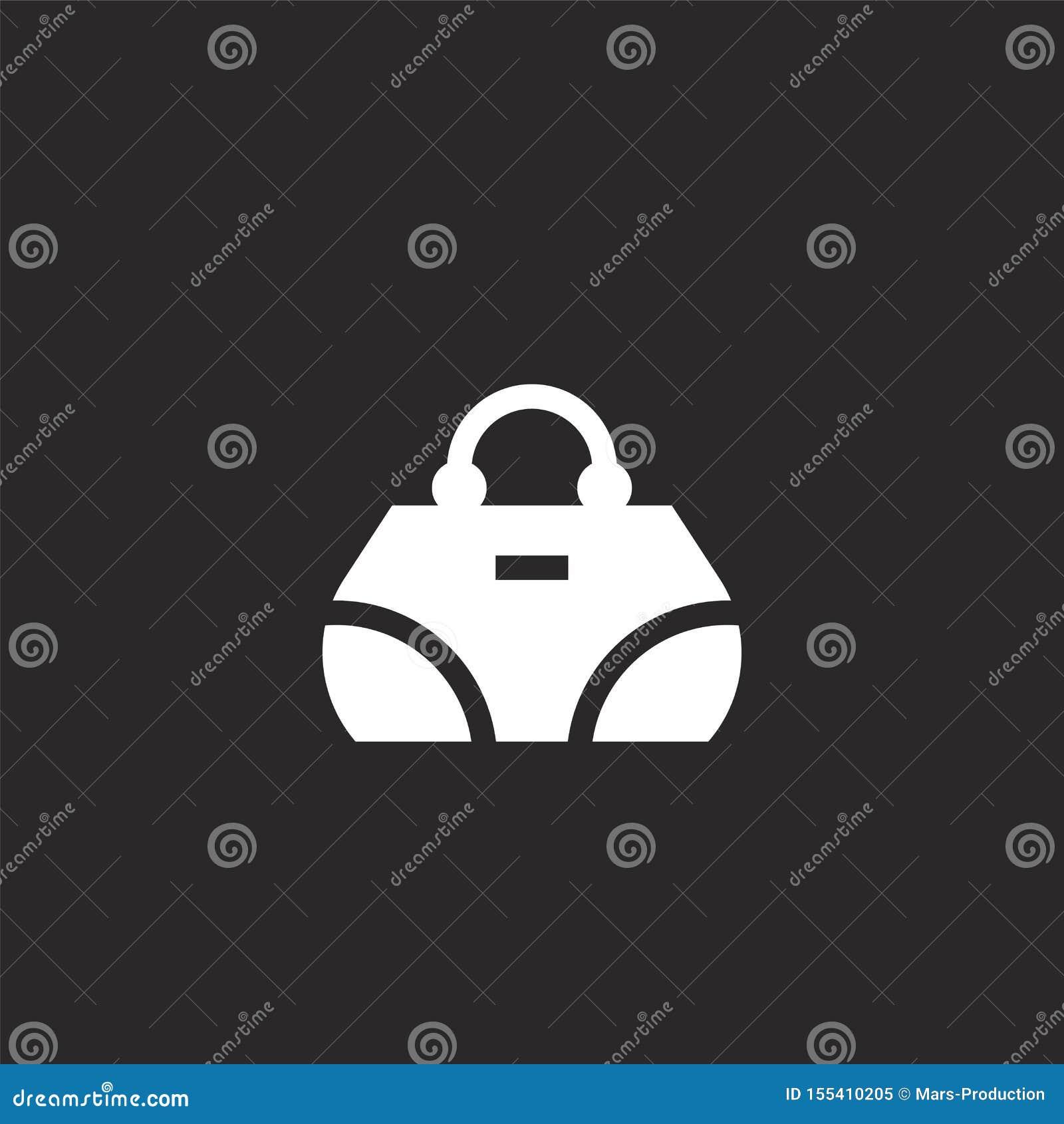 Handtaspictogram Gevuld handtaspictogram voor websiteontwerp en mobiel, app ontwikkeling handtaspictogram van de gevulde inzameli