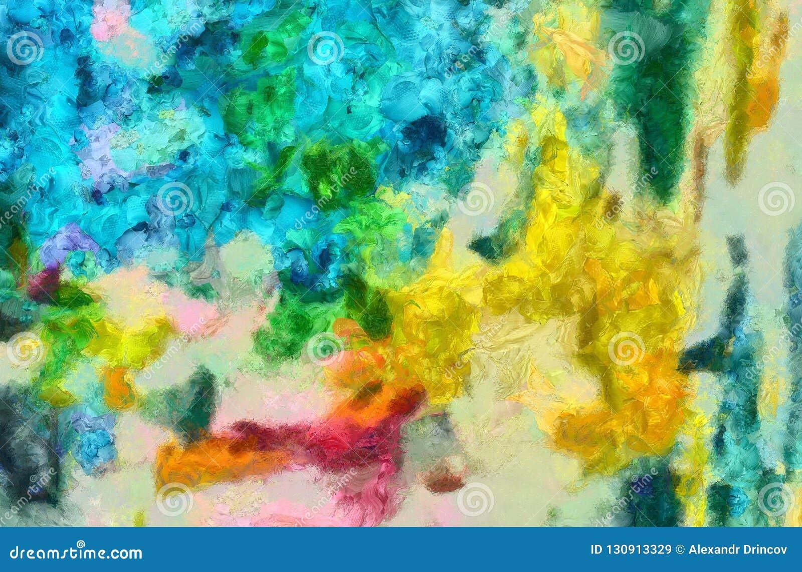 Handtekening in olieabstractie De textuurachtergrond van Grunge Uitstekend ontwerppatroon Creatief behang Waterverf gemengd art.