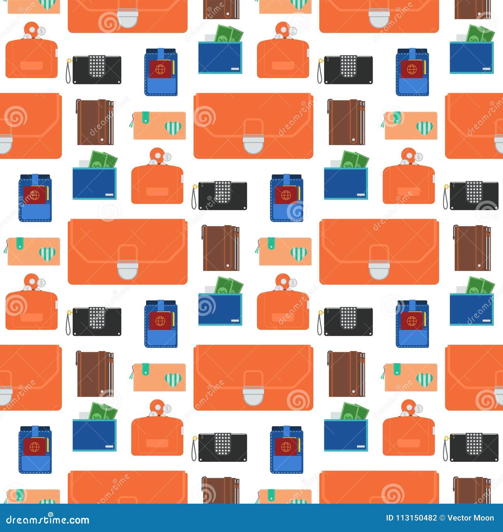 Handväskaplånbok med för modellbakgrund för pengar påsen för betalning för sömlös för shopping affär för köp den finansiella och