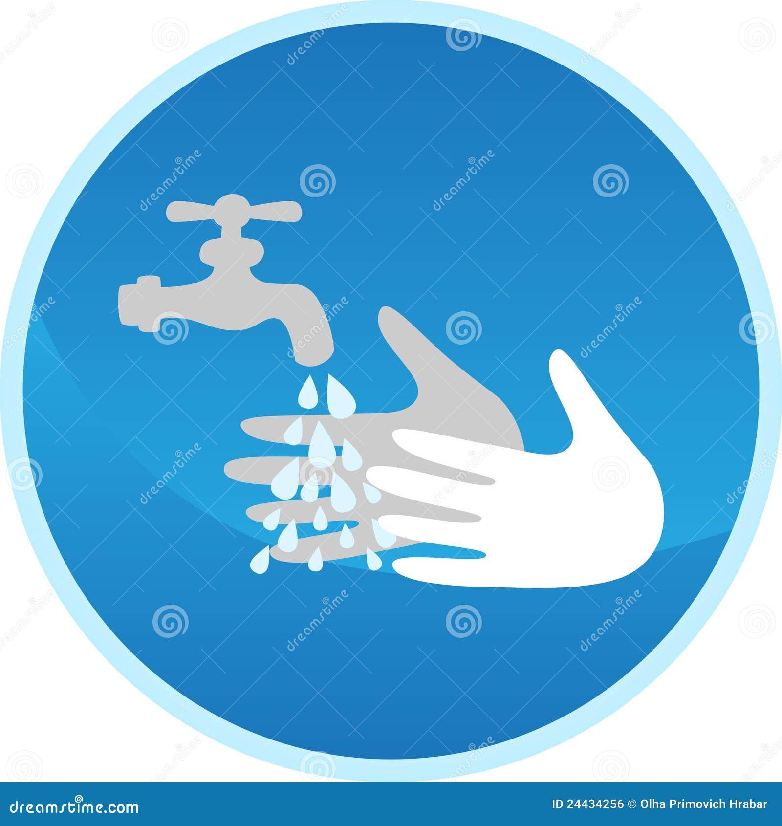 Handwaschendes Zeichen