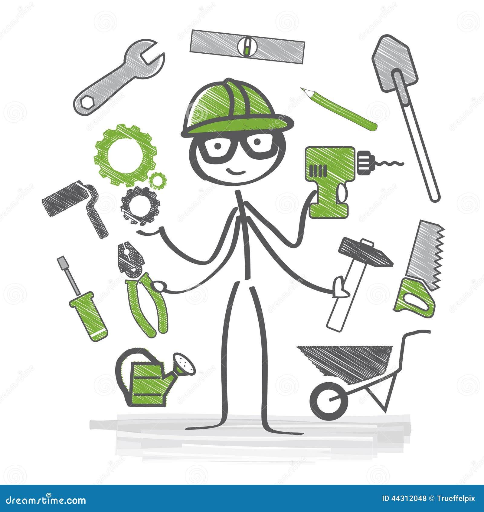 Handwerker clipart kostenlos  Handwerker Stock Abbildung - Bild: 44312048