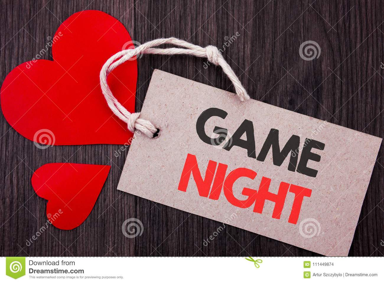 Handwriting Announcement text showing Game Night. Business concept for Entertainment Fun Play Time Event For Gaming written on Pri