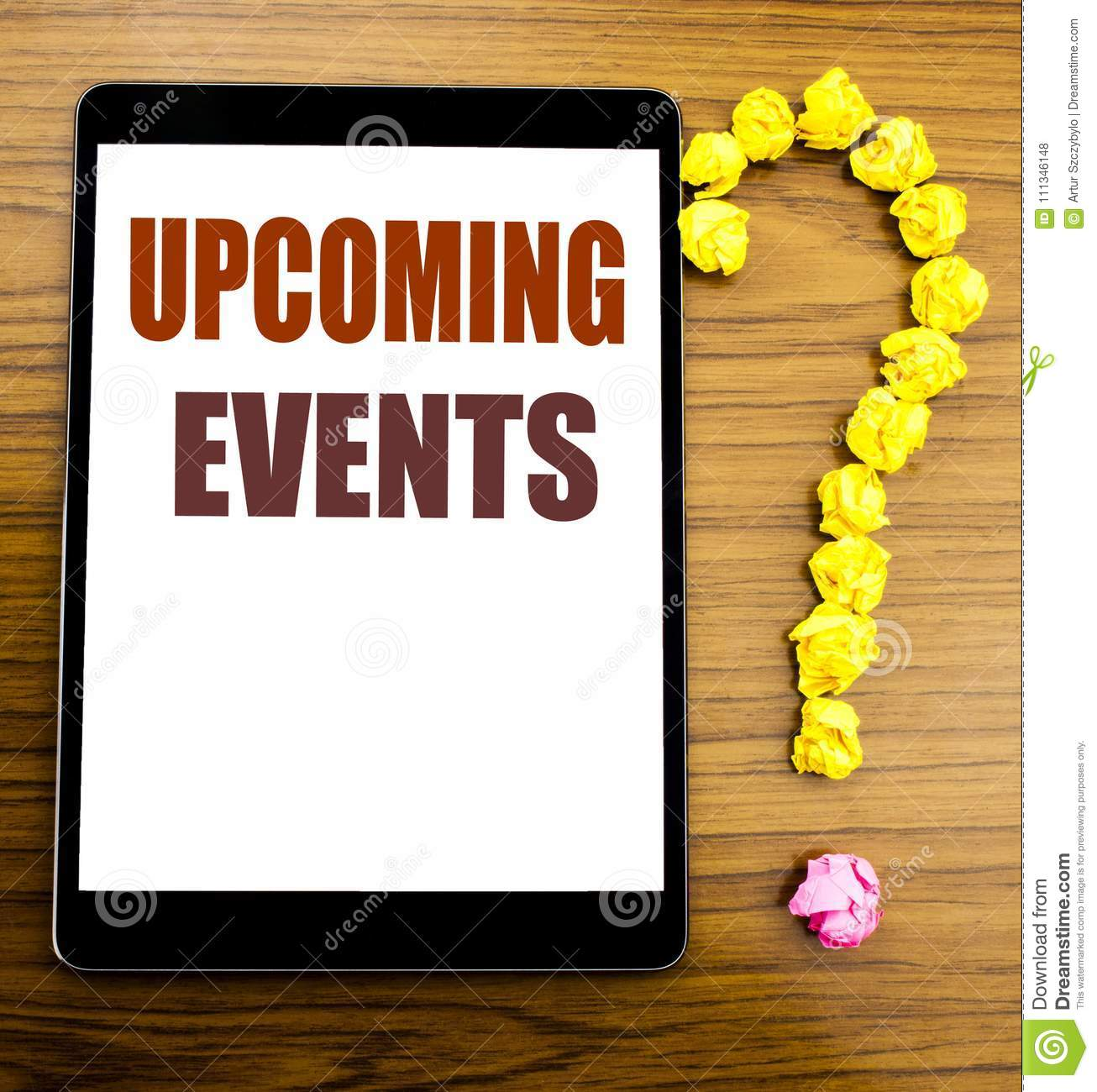 Announcement of upcoming events 8