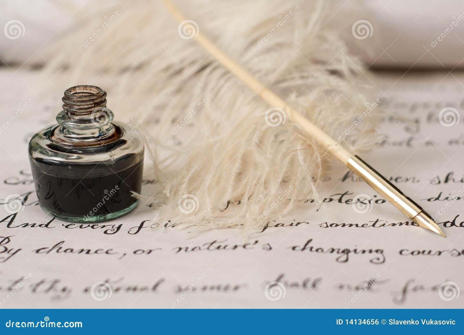 Handwriting atramentu pióra dutka