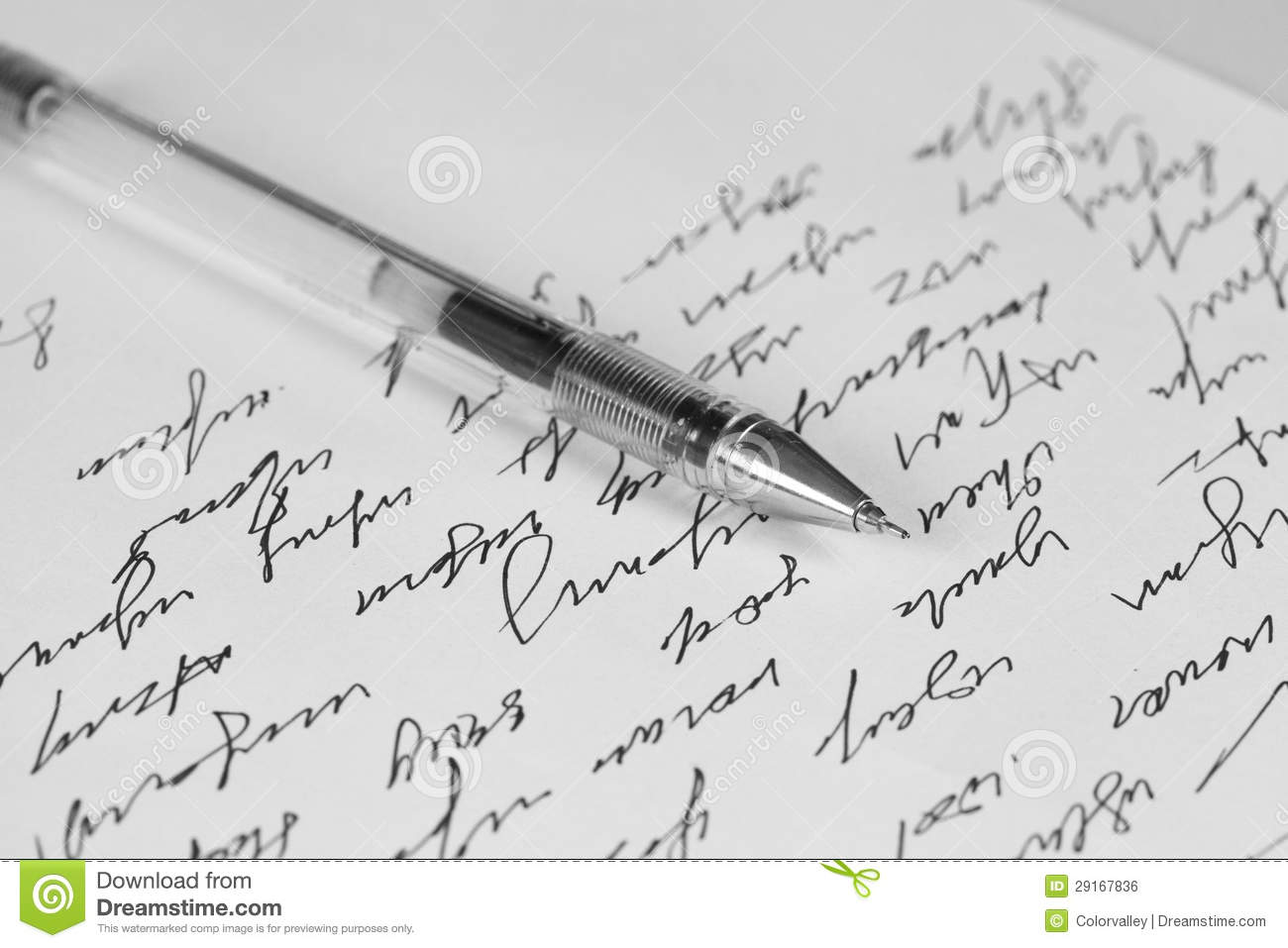 Stock illustrations senior citizen lady with a sign stock clipart - Handwriting Letter Royalty Free Stock Image Image 29167836