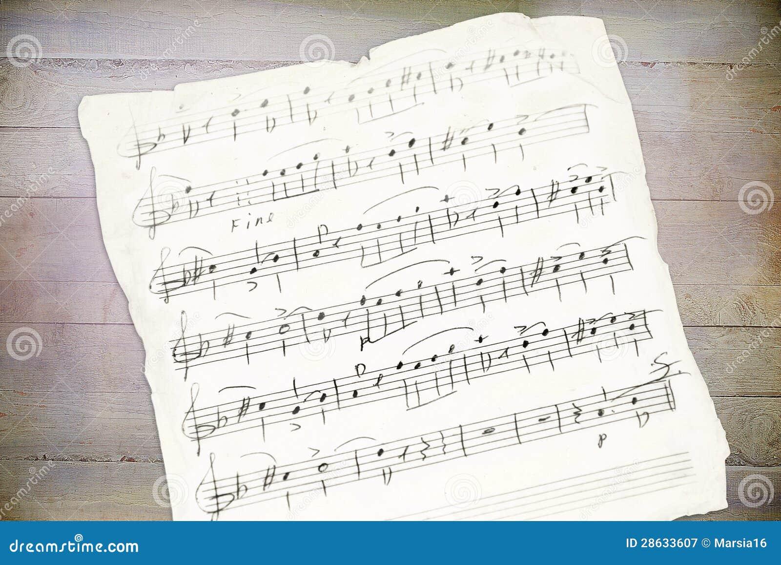 Handwriting muzyczny prześcieradło