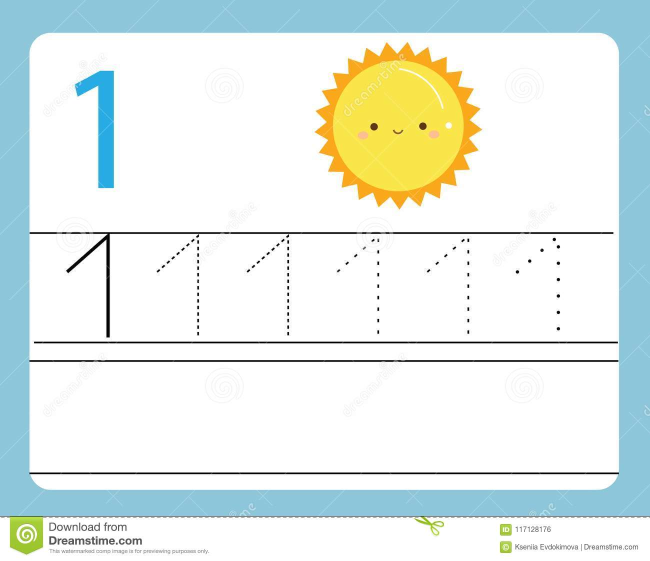 picture regarding Number One Printable identify Handwriting Educate. Discovering Quantities With Adorable People
