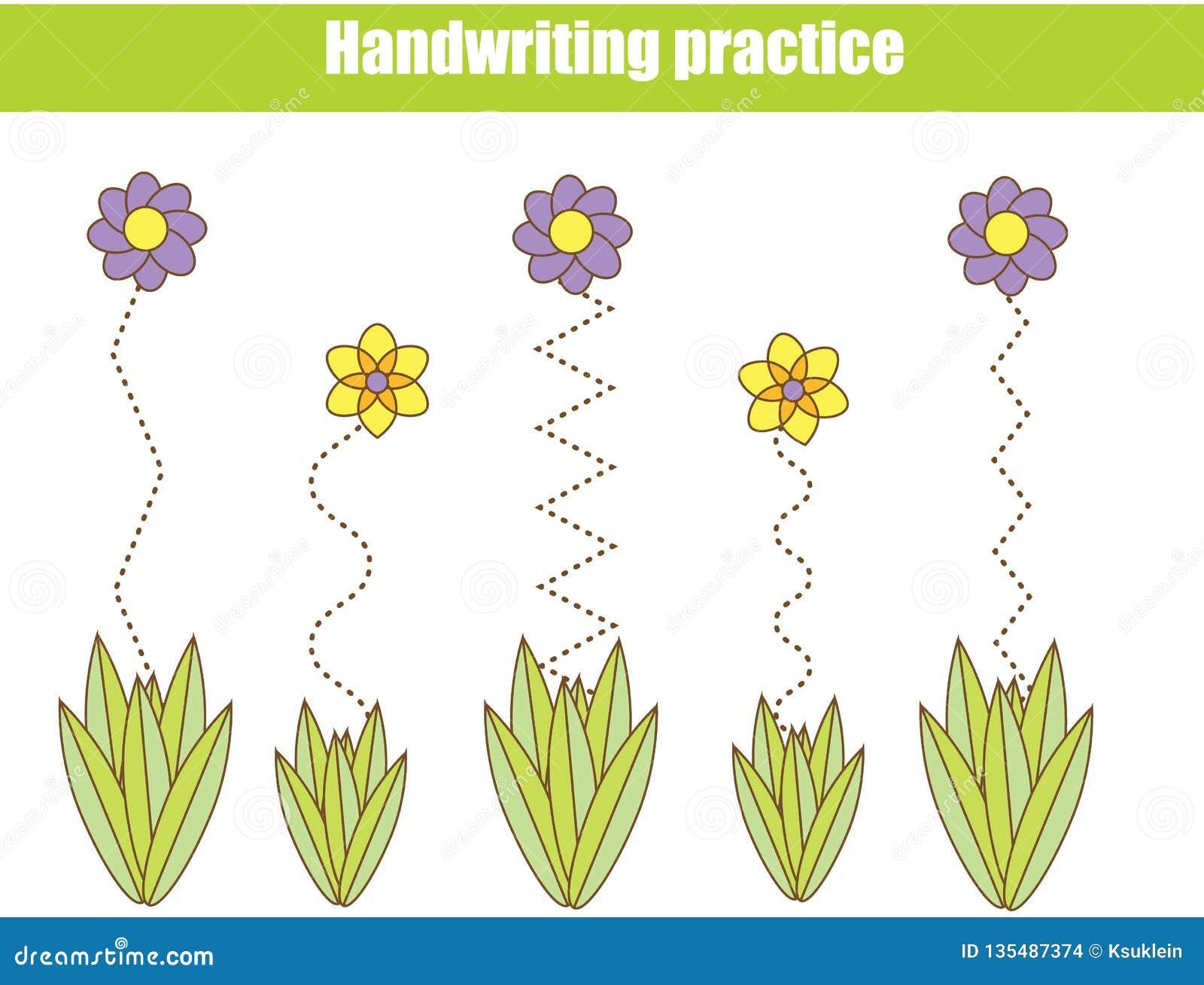Handwriting Practice Sheet. Educational Children Game, Printable ...