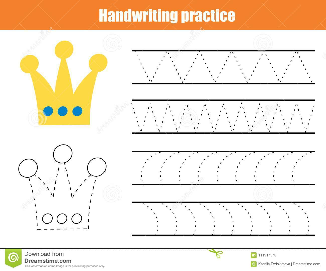 Handwriting Practice Sheet. Educational Children Game ...