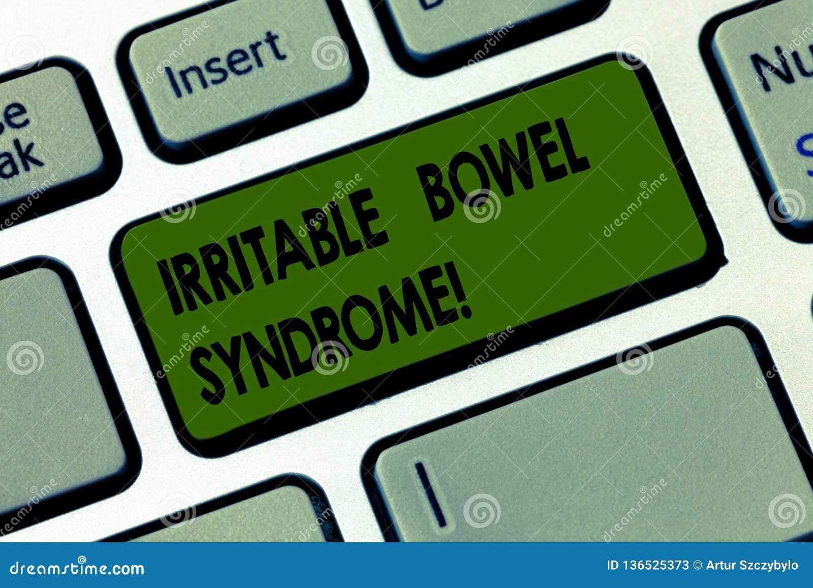 Handwriting tekst pisze Gniewliwej kiszki syndromu Pojęcia znaczenia nieład wymaga brzusznego bólu i biegunki Klawiaturowego kluc