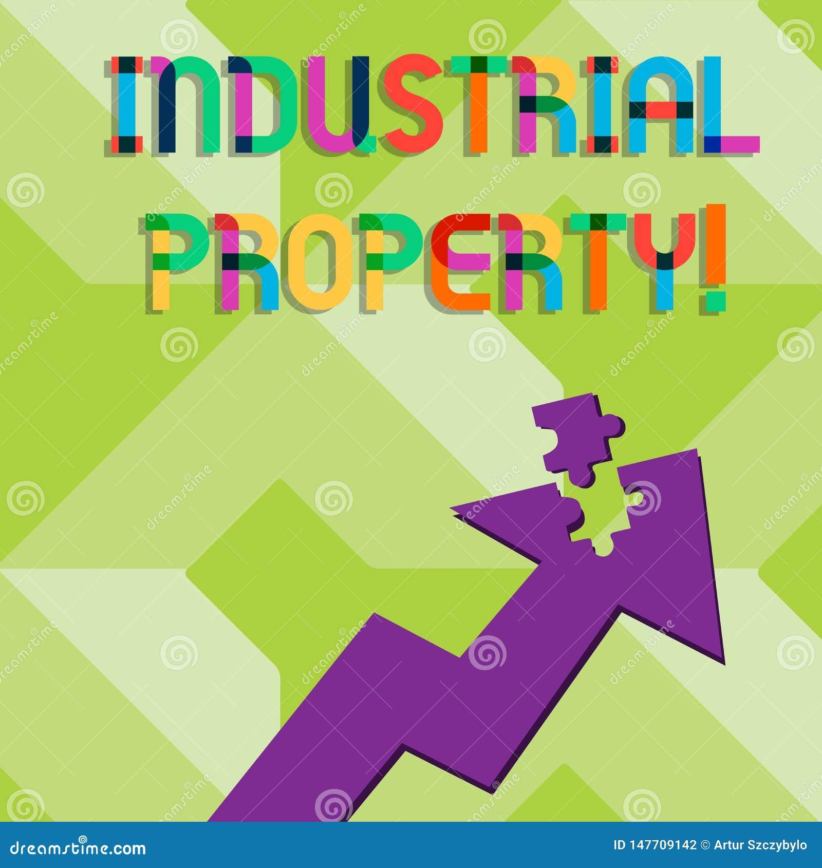 Handwriting tekst pisze Przemysłowej własności Pojęcie znaczy niedotykalnego posiadanie patentowy Kolorowy lub znak firmowy