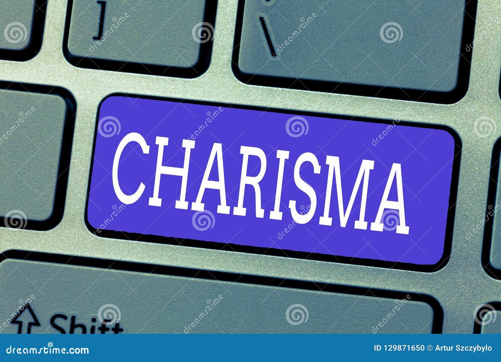Handwriting teksta charyzma Pojęcie znaczy nieodpartą atrakcyjność lub urok który inspirują oddanie w inny