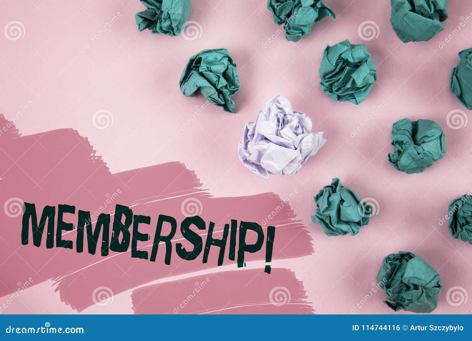 Handwriting teksta członkostwo Pojęcia znaczenie Jest członka częścią grupa lub drużyną Łączy organizaci firmy pisać na Malowałam
