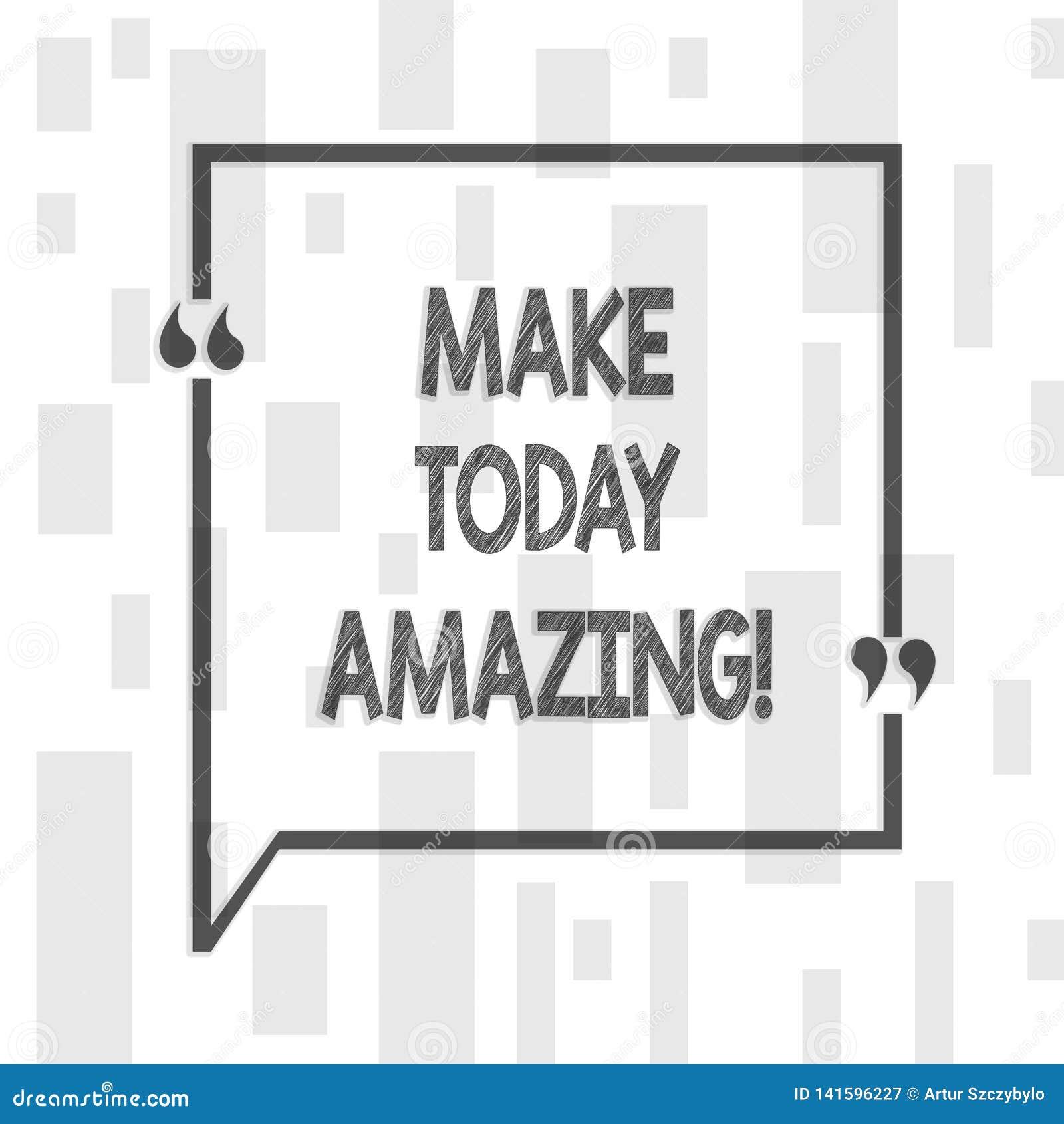 Handwriting teksta pisać Robi Dzisiaj Zadziwiać Pojęcie znaczy Produktywnego momentu dodatek specjalnego Optymistycznie