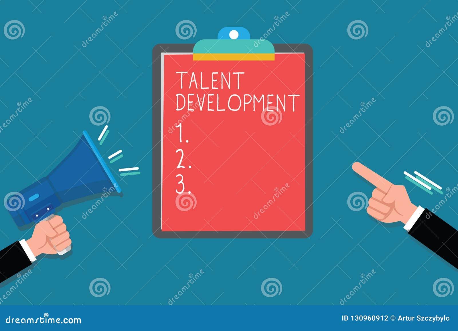 Handwriting teksta talentu rozwój Pojęcia znaczenia budynku umiejętności zdolność Ulepsza Potencjalnego lidera