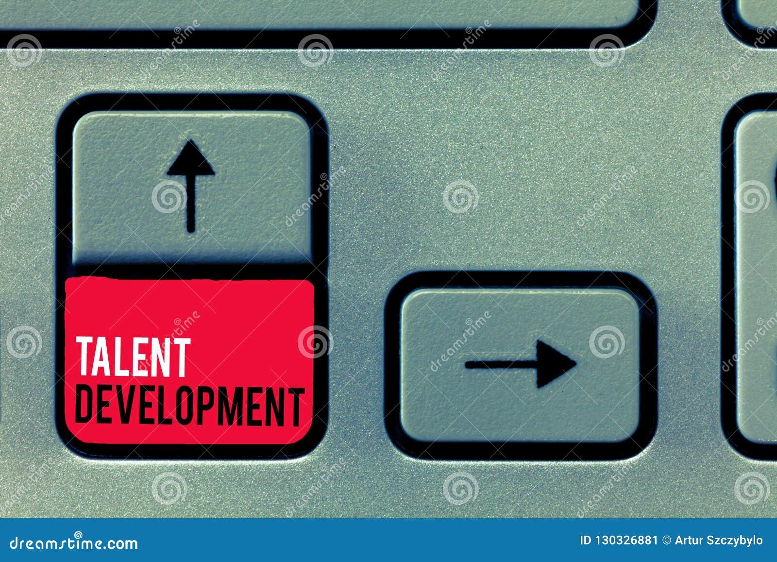 Handwriting teksta writing talentu rozwój Pojęcia znaczenia budynku umiejętności zdolność Ulepsza Potencjalnego lidera