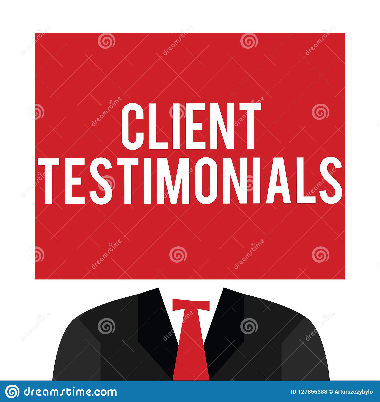 Handwriting text Client Testimonials. Concept meaning Written Declaration Certifying persons Character Value