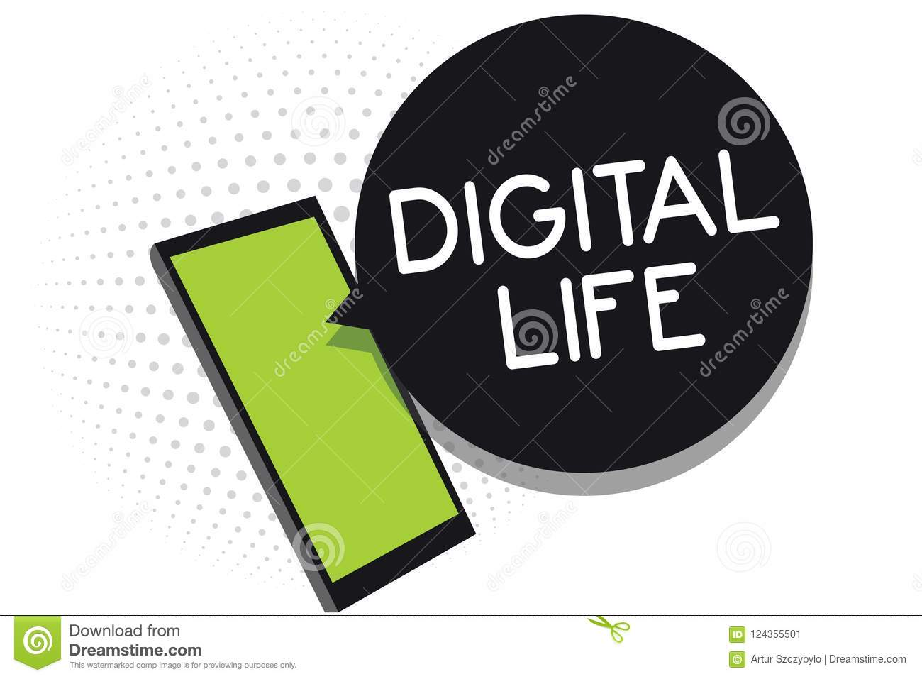 Handwriting Text Digital Life Concept Meaning Living In A World