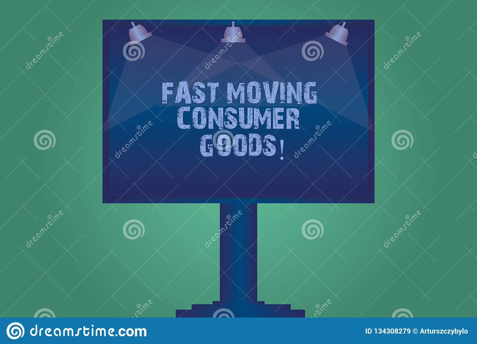 Handwriting text Fast Moving Consumer Goods. Concept meaning High volume of purchases Consumerism retail Blank Lamp