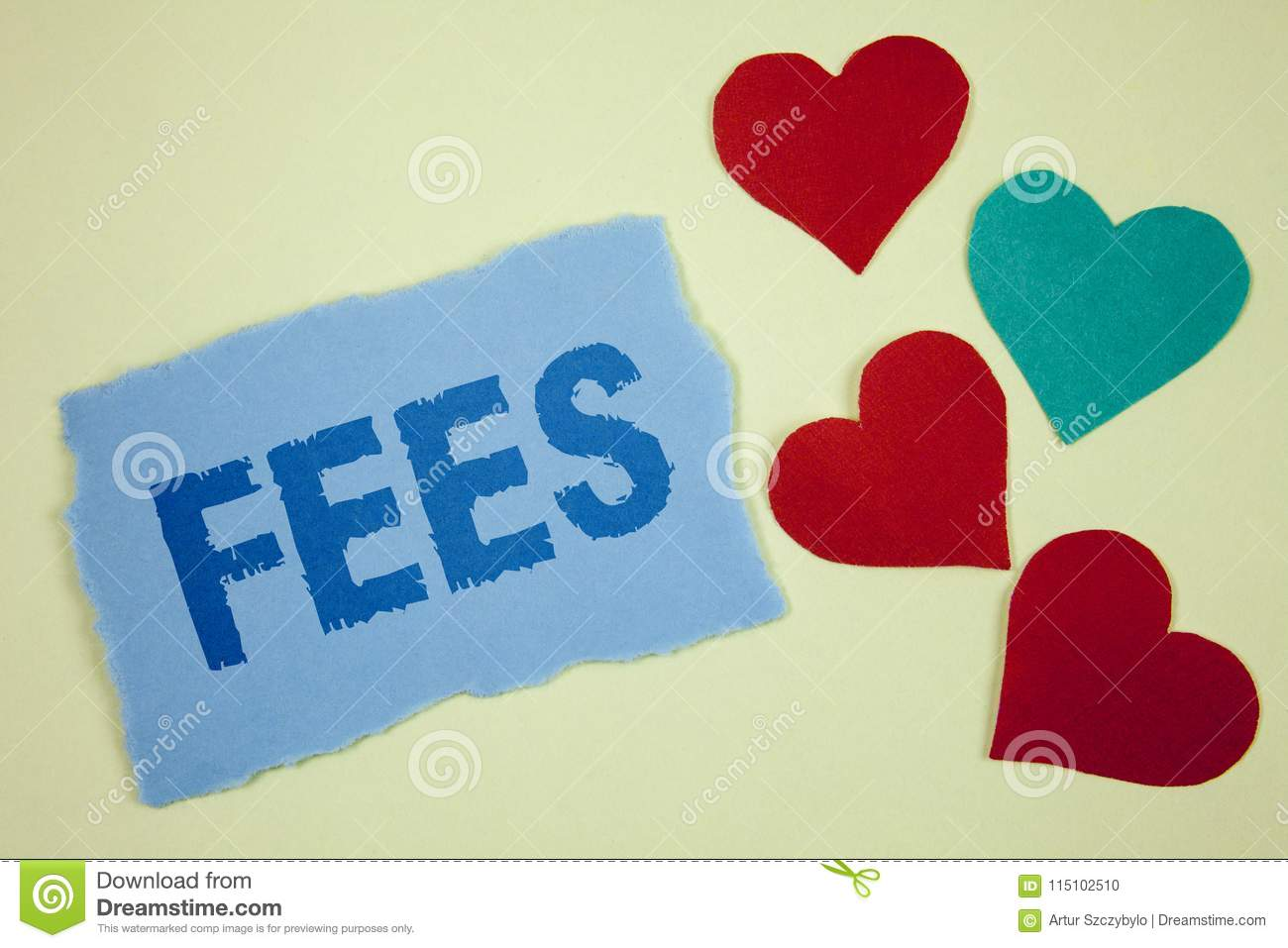 Handwriting Text Fees  Concept Meaning Online Creative