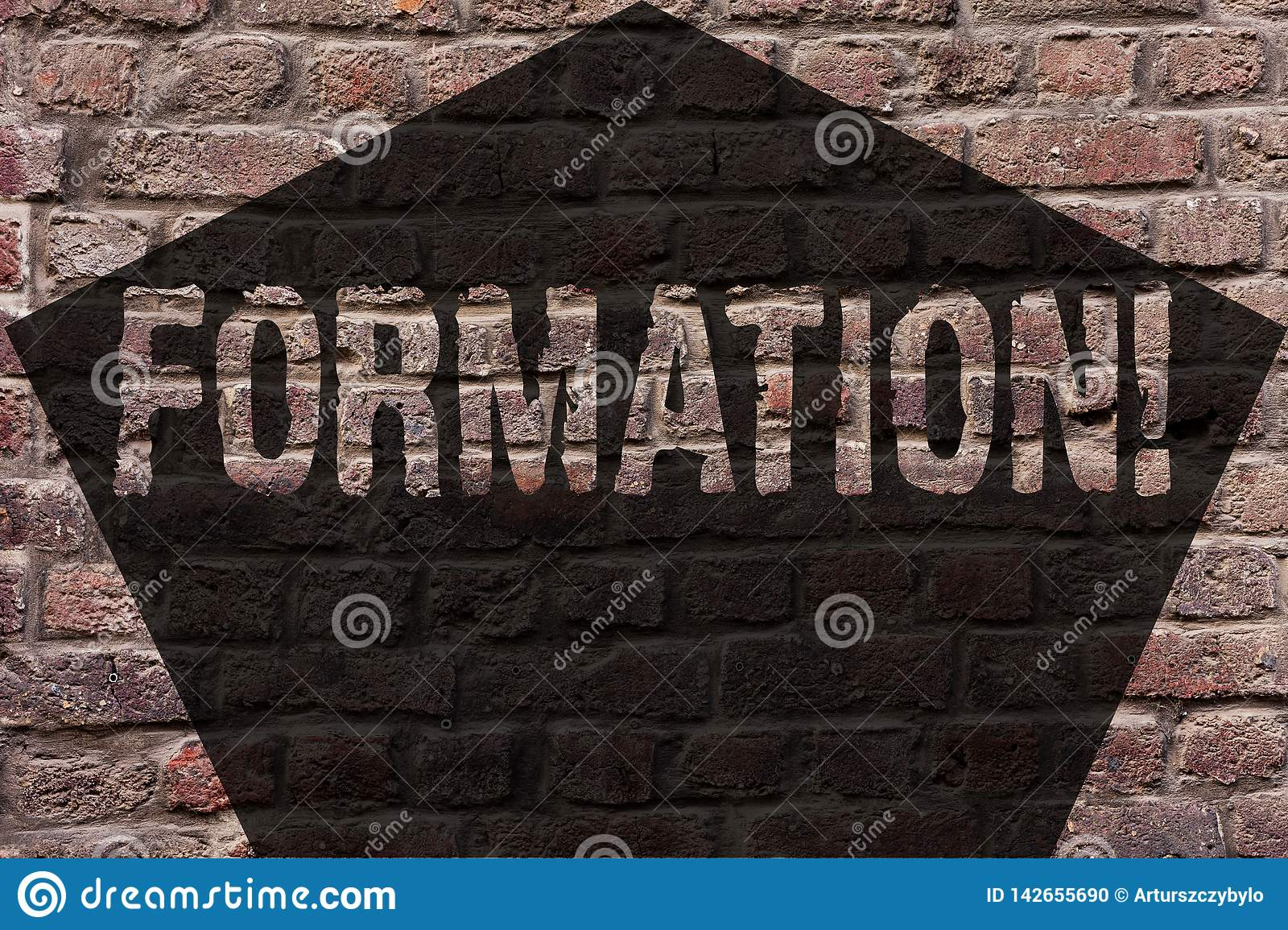 Handwriting Text Formation Concept Meaning Body Of Rocks Particular Troops Parts Disposition Forming Process Brick Wall Stock Photo Image Of Canyon Ecology 142655690