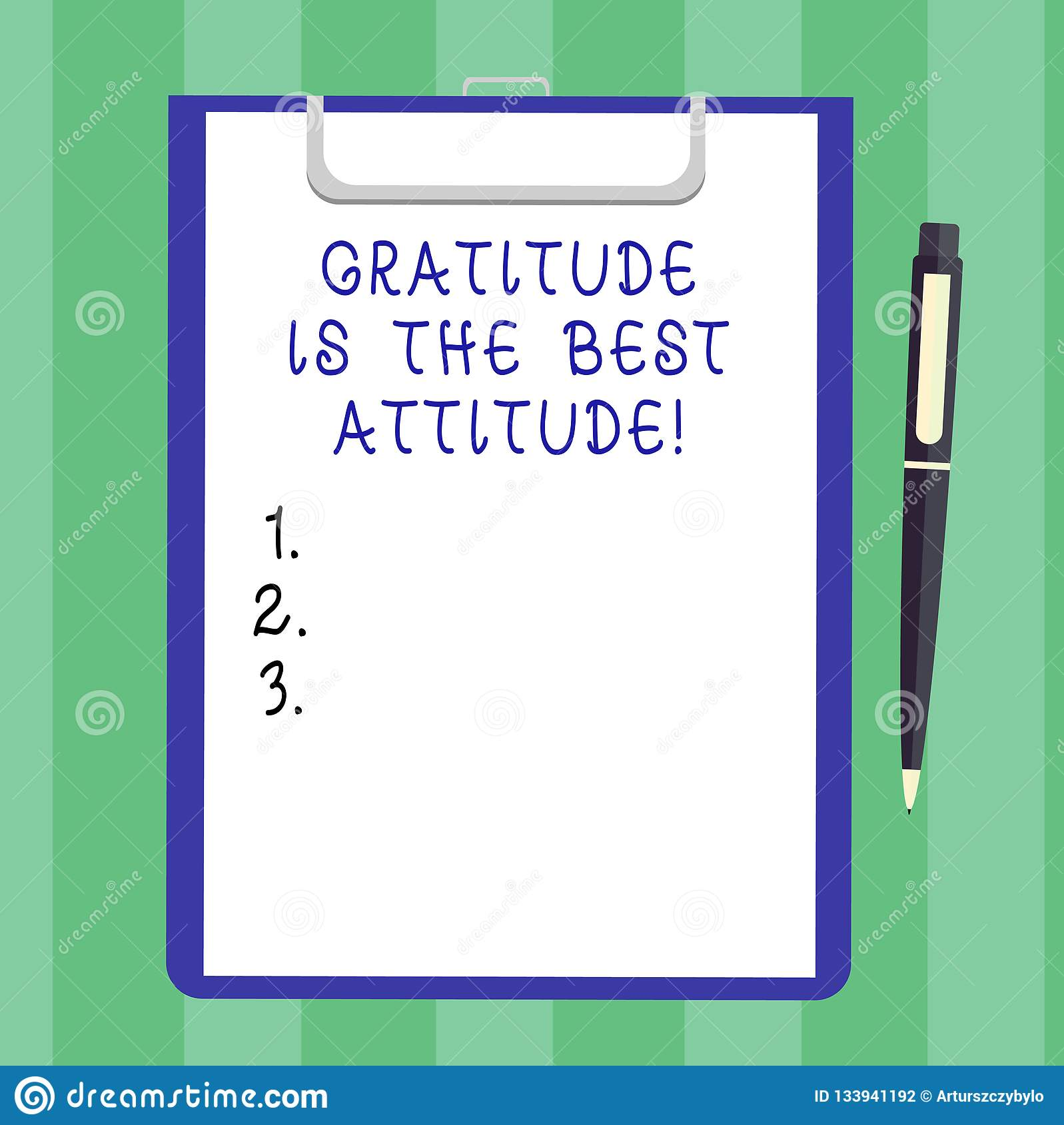 Handwriting text Gratitude Is The Best Attitude. Concept meaning Be thankful for everything you accomplish Blank Sheet