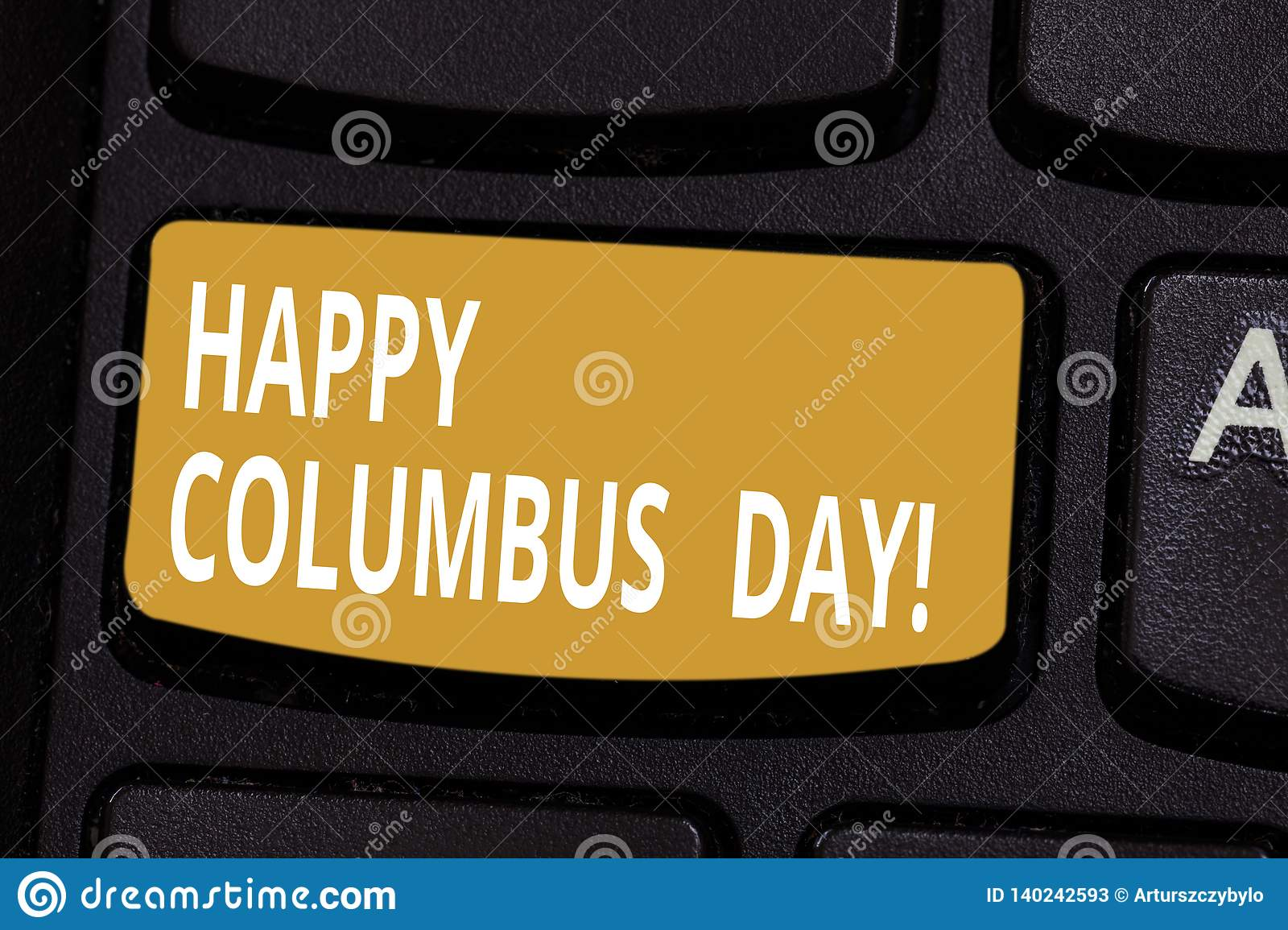 Handwriting Text Happy Columbus Day  Concept Meaning Holiday