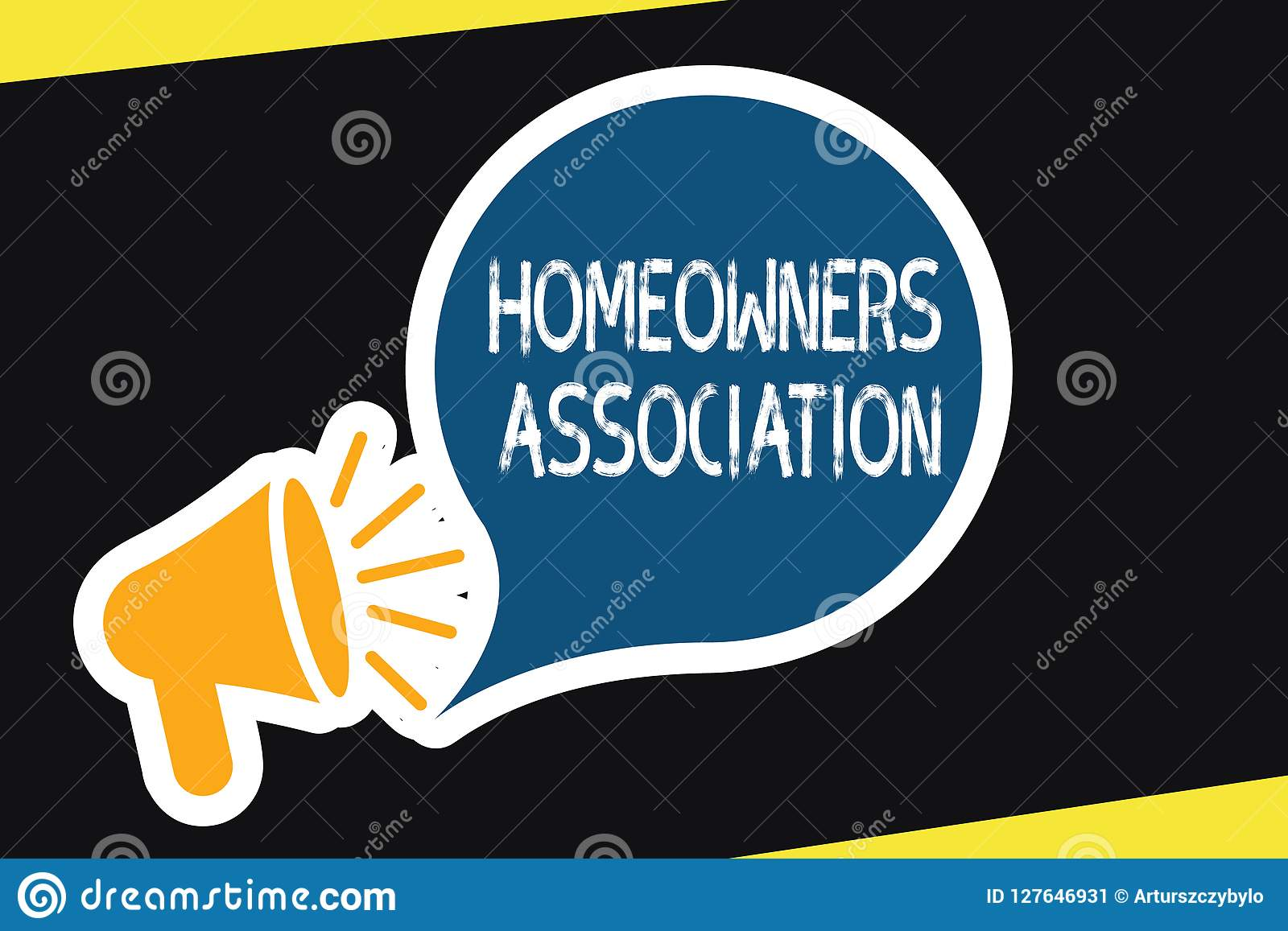 Handwriting Text Homeowners Association  Concept Meaning