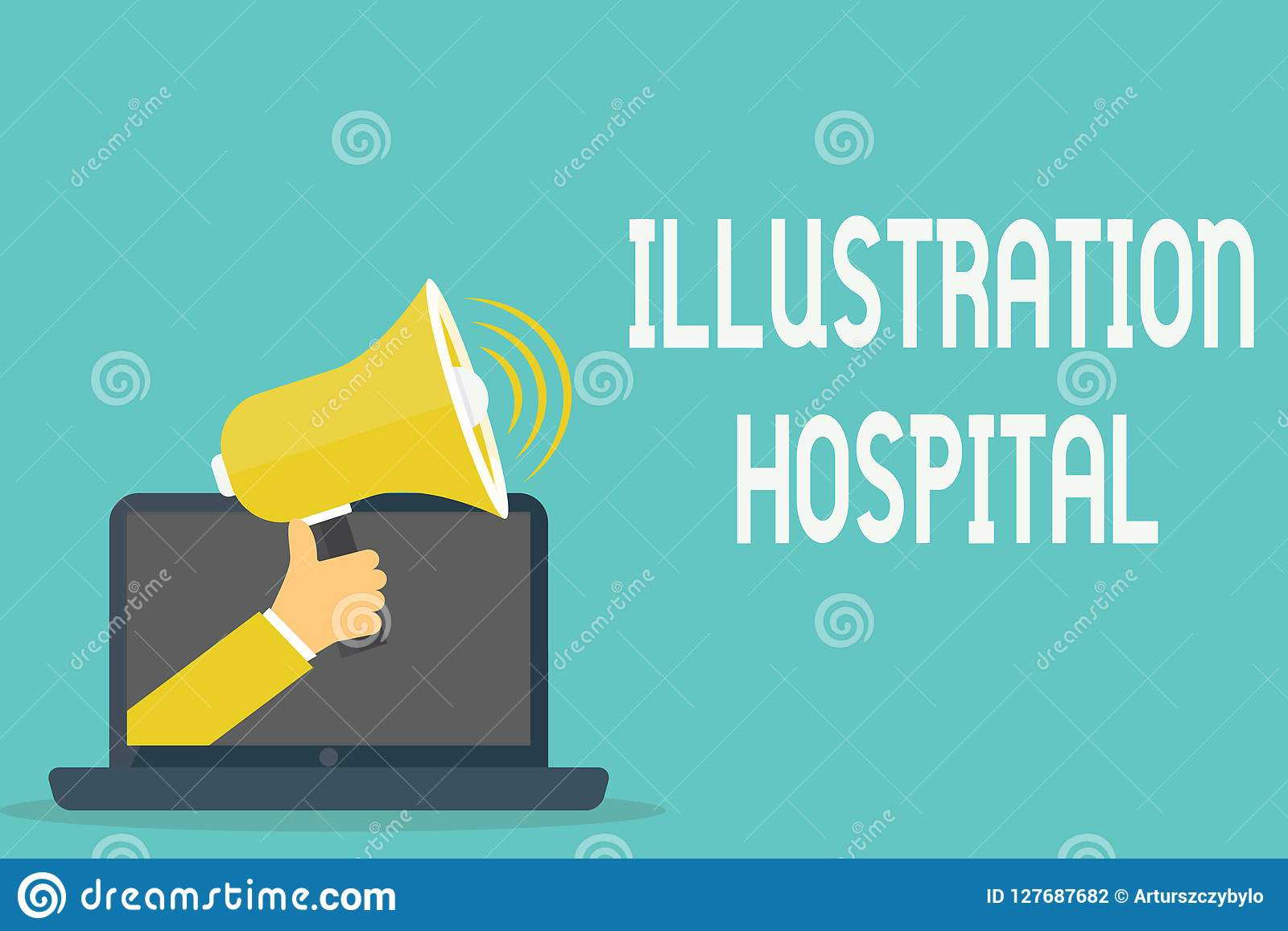 Handwriting Text Illustration Hospital Concept Meaning Unique