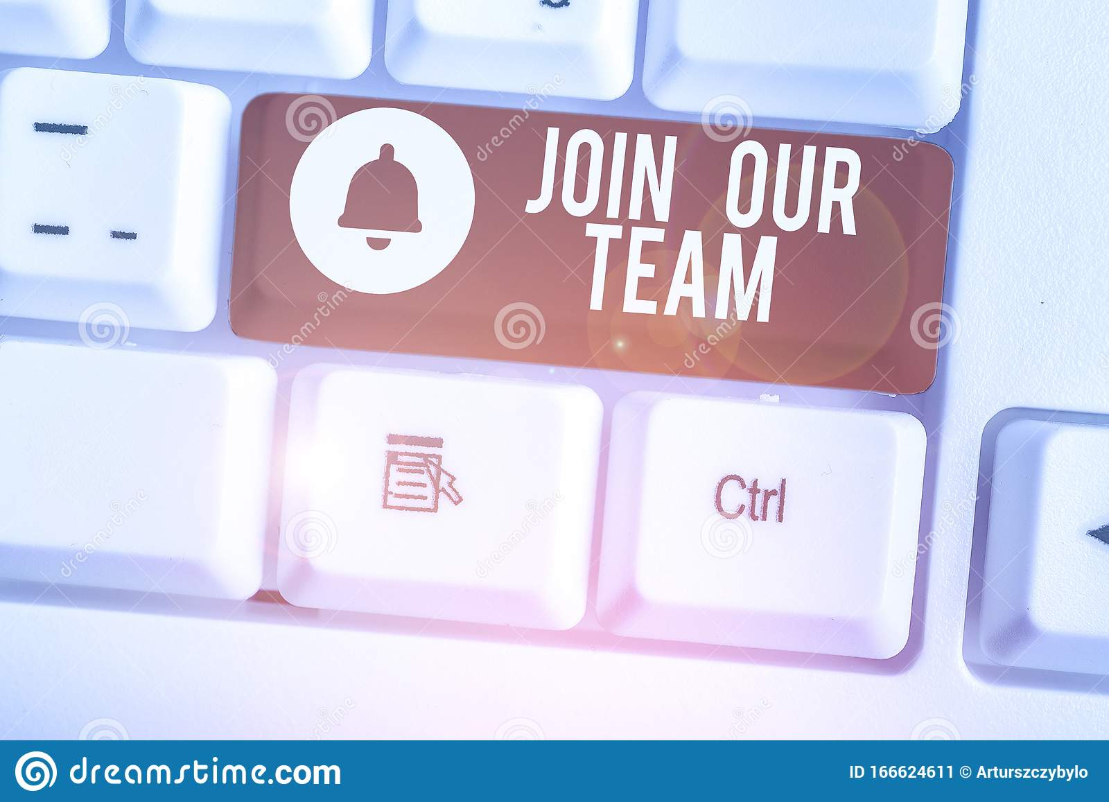 Handwriting Text Join Our Team Concept Meaning Allied Associate