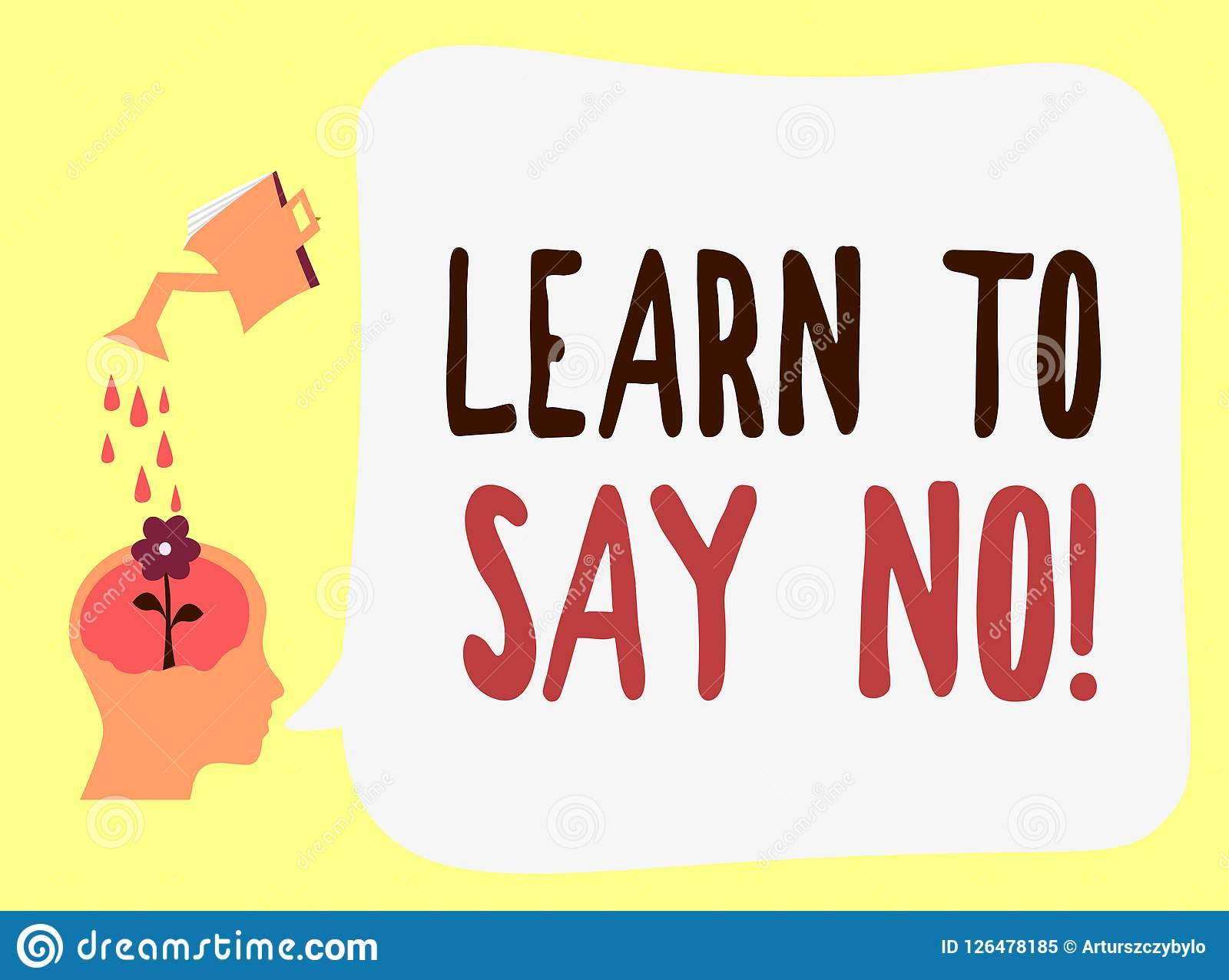 handwriting text learn to say no concept meaning dont hesitate tell