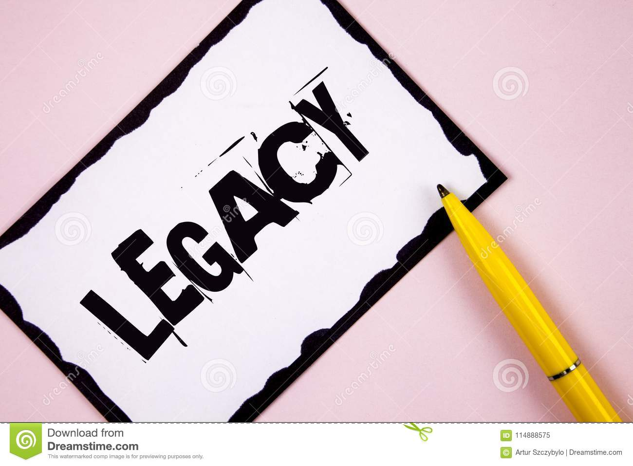 Handwriting Text Legacy Concept Meaning Transmitted Received From