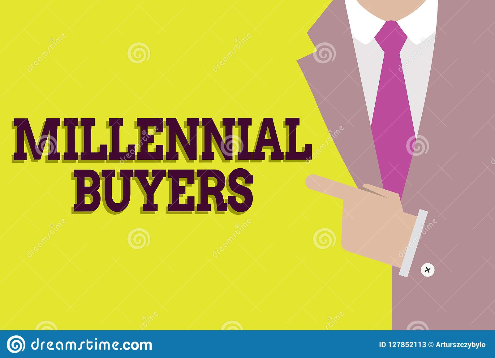 Handwriting text Millennial Buyers. Concept meaning Type of consumers that are interested in trending products