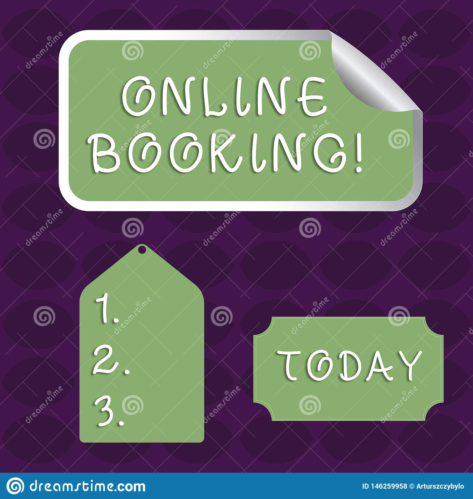 Handwriting text Online Booking. Concept meaning tool used to analysisage business travel through internet Blank Color