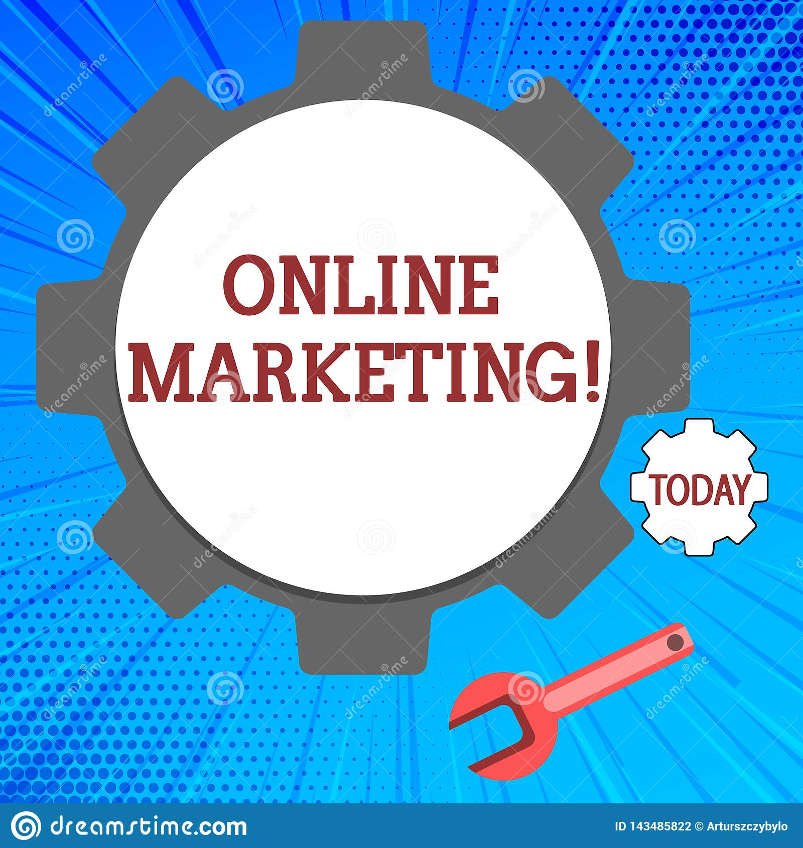 Handwriting Text Online Marketing. Concept Meaning ...