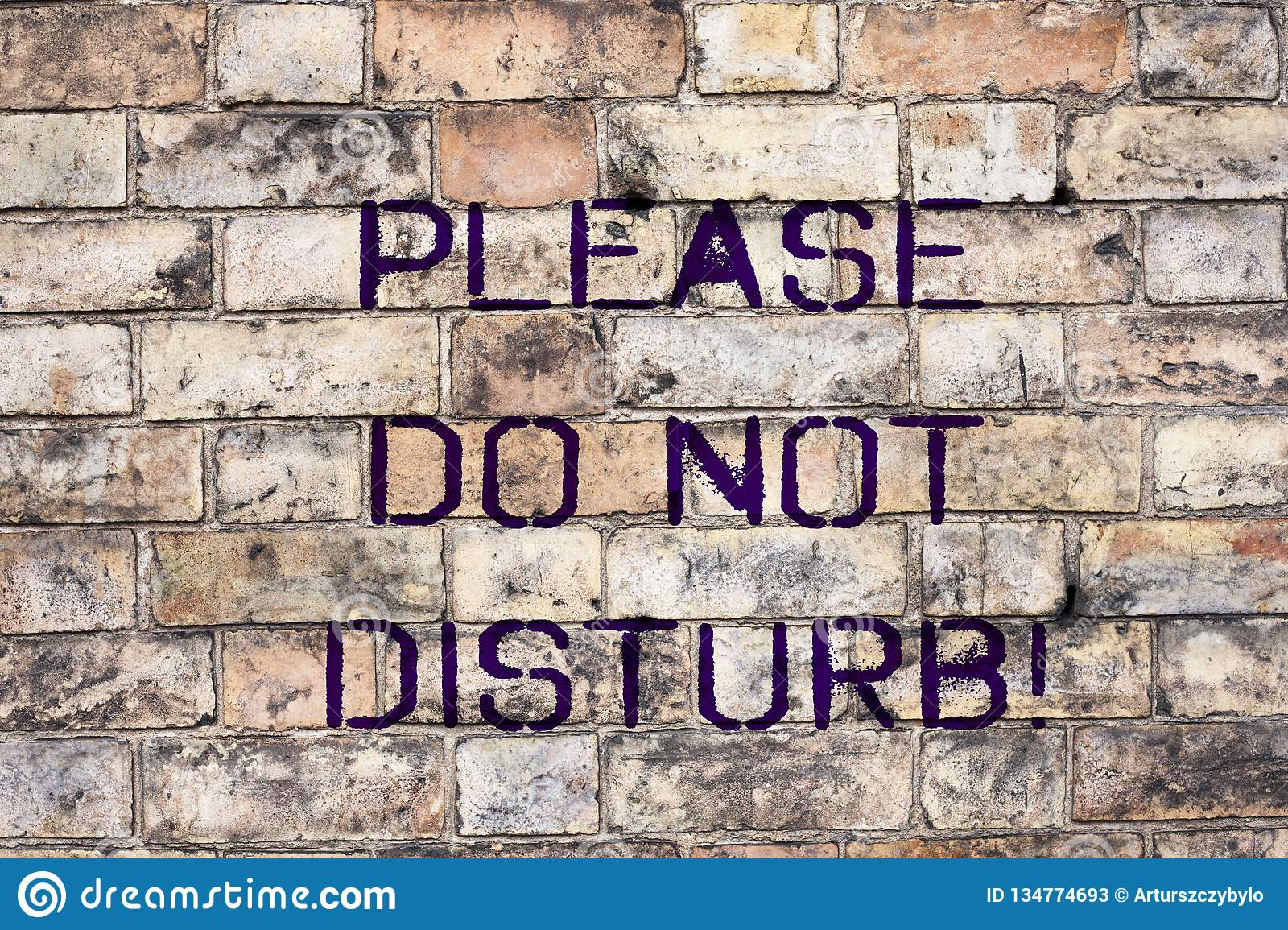 Handwriting text Please Do Not Disturb Concept meaning Let us be quiet and rest Hotel room sign Privacy