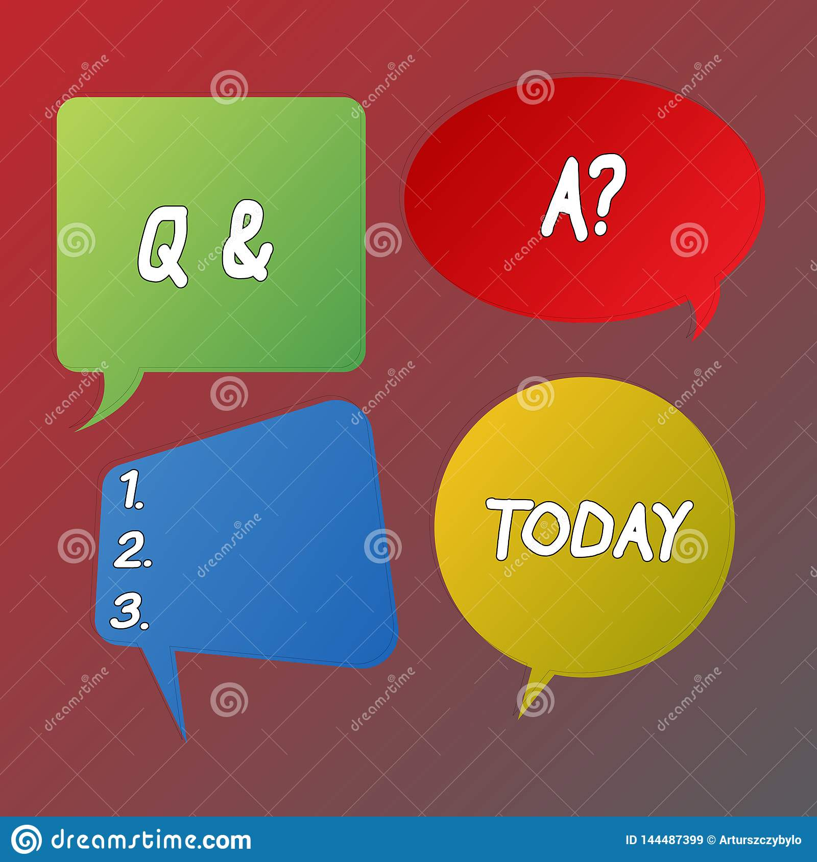 Handwriting Text Q And A Question  Concept Meaning In Which