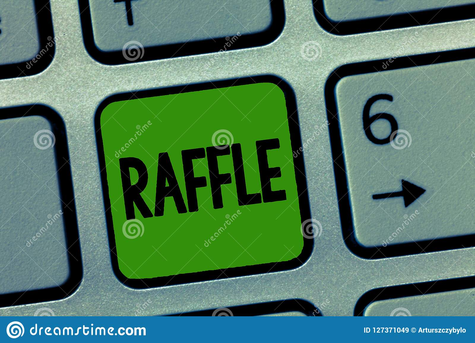 handwriting text raffle concept meaning means of raising money by