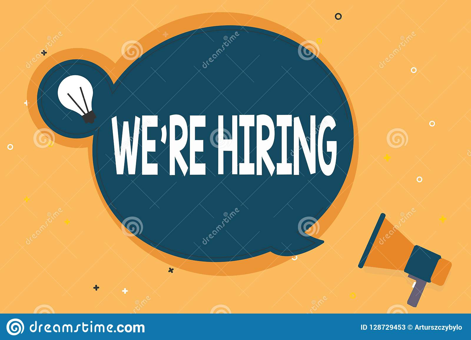 Handwriting Text WE Are RE HIRING  Concept Meaning Need To