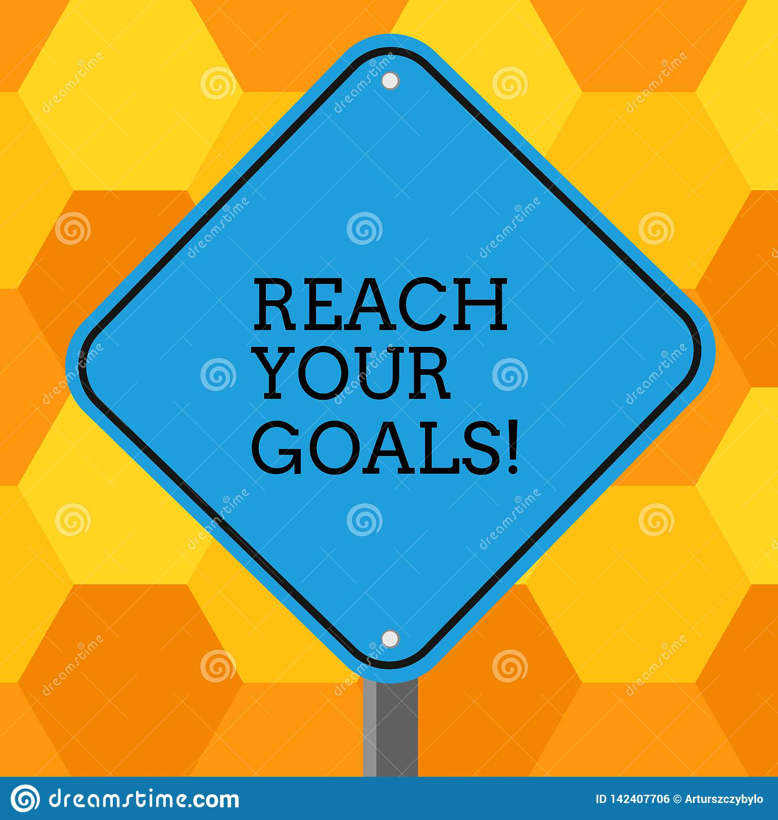Handwriting Text Reach Your Goals  Concept Meaning Achieve
