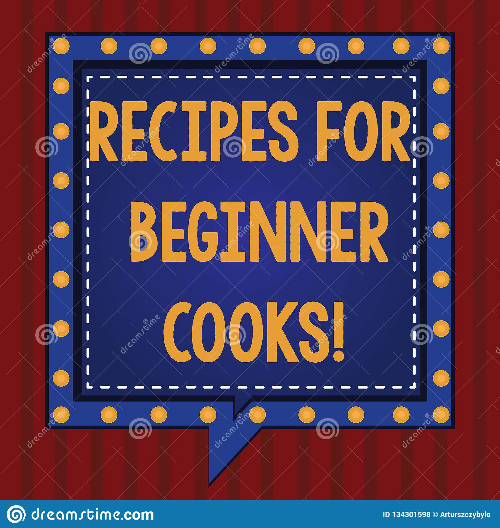 Handwriting Text Recipes For Beginner Cooks. Concept Meaning