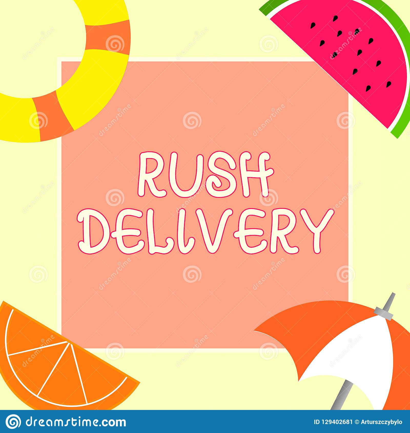 Handwriting Text Rush Delivery  Concept Meaning Urgency In