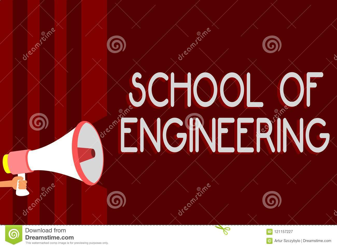 Handwriting Text School Of Engineering Concept Meaning College To