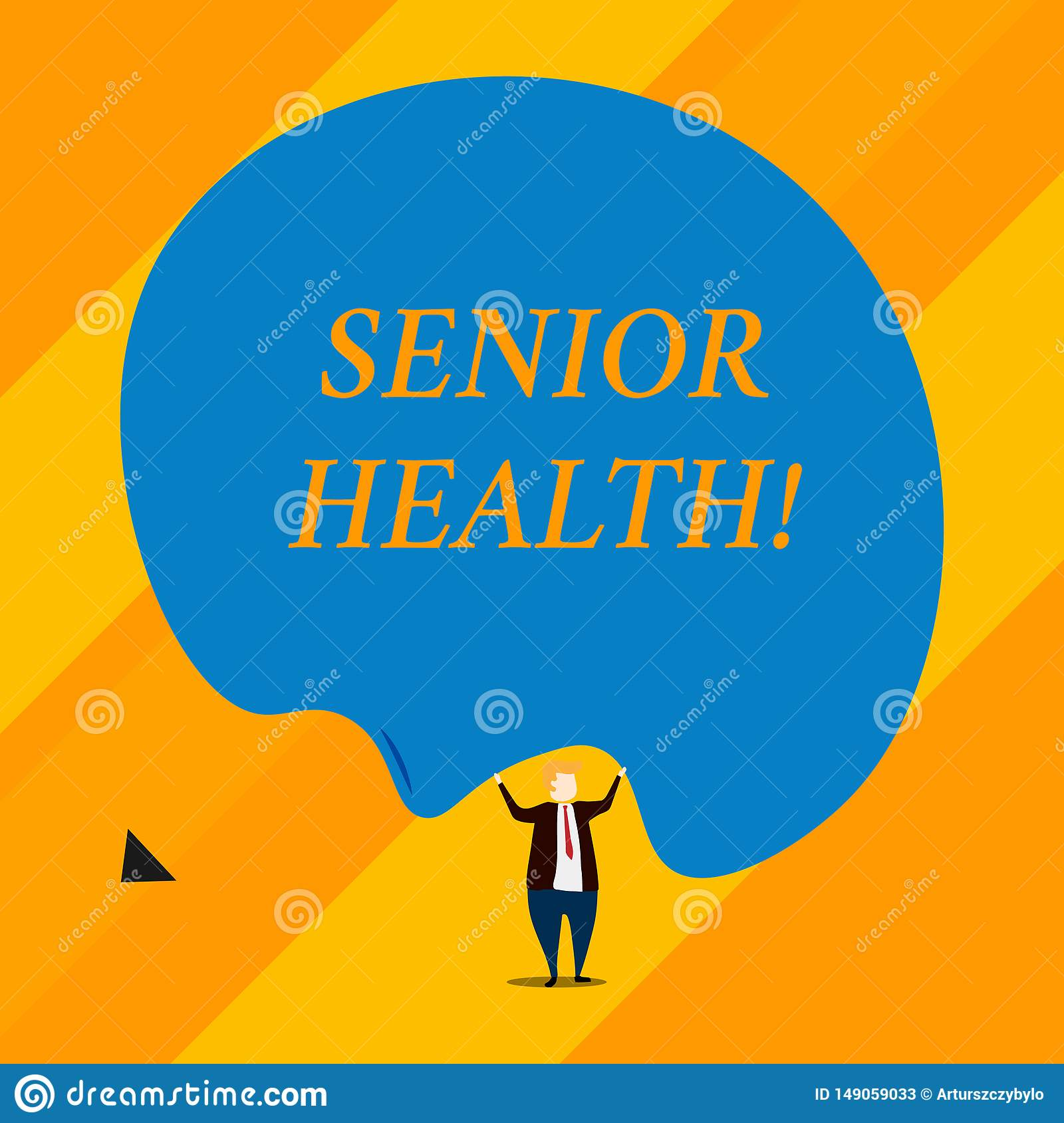 Handwriting Text Senior Health. Concept Meaning Refers To ...